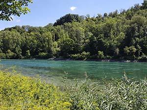 Unter dem Rheinfall bei der Sage vom Rheinfall und dem Fischer