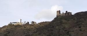 Zwei Brüder - die feindlichen Brüder am Rhein - Burg Sterrenberg und Liebenstein